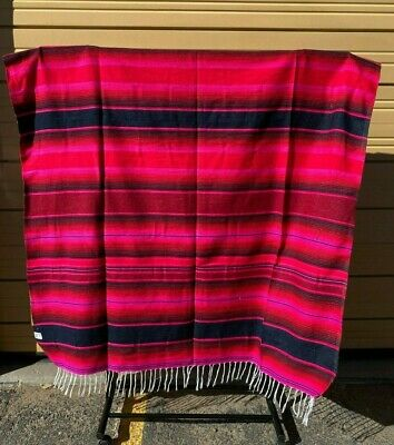 Serape XXL,5' X 7',Mexican Blanket,HOT ROD, Seat Covers,Motorcycle,  PINK  MIX