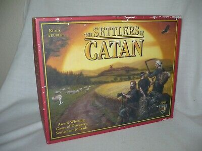 The Settlers Of Catan Board/Card Game #3061 ***Never Played***