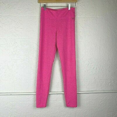 Justice Pink Leggings Girls Size 16 Athletic Stretch Solid Skinny Pants School