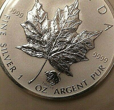 2004 Taurus Privy Maple Leaf 1 oz .9999 Silver Coin Canada with COA mint sealed