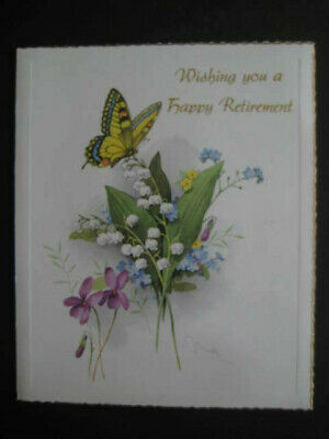 NEVER USED Vintage Happy Retirement Greeting Card GREAT CND