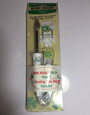 CNI Mini Iron MCI-900 for sewing and quilting projects 2 settings sealed NEW NIP