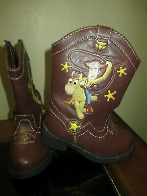NEW Disney/'s Toy Story Sheriff Woody Toddler Boys Light Up Boots  Size 6 /& 10