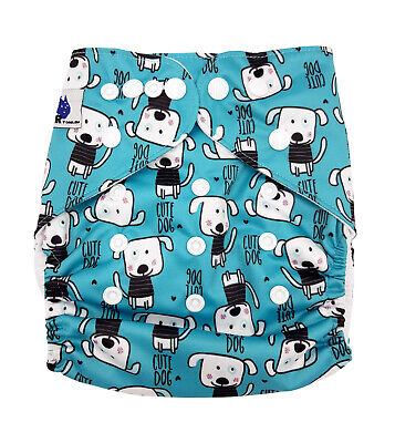 Reusable Modern Cloth Nappy (MCN) + FREE insert – Cute Dogs