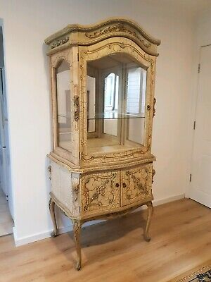 Stunning French Vintage style display cabinet
