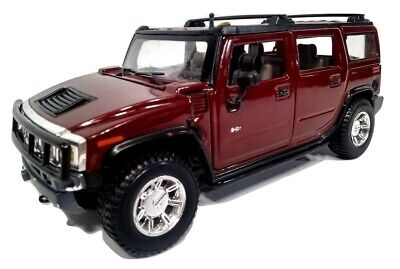 Maisto 2003 Hummer H2 Diecast Car SUV 1:27 Scale Maroon Collectible Toy Vehicle