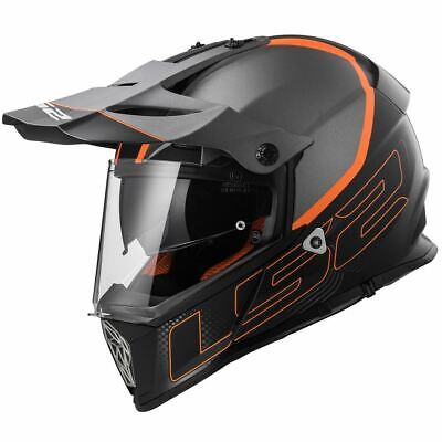LS2 MX436 Pioneer Element Adventure Enduro Off Road Dual Sport Crash Helmet