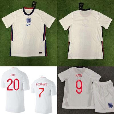 19-20 White Soccer Football Club Jersey Strip Outfit Kid Boys 3-14Y Sports Suit