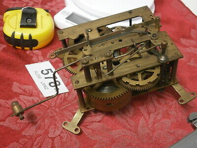 CLOCK MOVEMENT 8 Day German wall mantle parts spares sound pendulum leader 578A