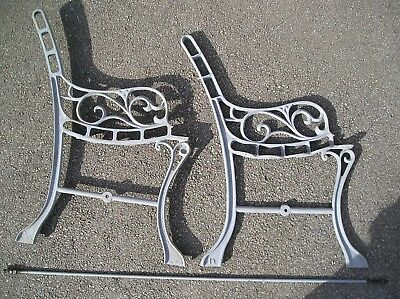 Old Victorian Heavy Cast Iron Bench Ends.