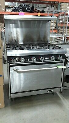 "Used 36"" Superior (6) Burner Natural Gas Range with Standard Oven"
