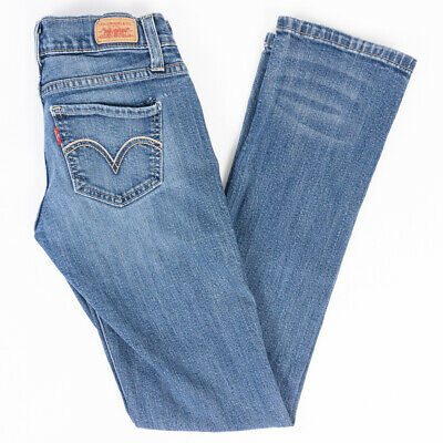 Levis 524 Too Superlow Skinny Womens Jeans Faded Medium Wash Size 0 M