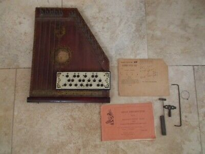 Antique Mandolin Harp, American Style B, by United States Guitar Zither Co 1894