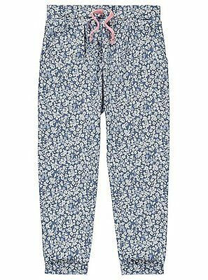 Girls Floral Trousers Colour: Blue  Size: 12-13 Years - New with Tags