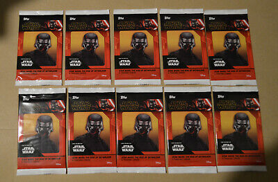 10x CINEWORLD Topps STAR WARS THE RISE OF SKYWALKER Exclusive Promo Card Packets