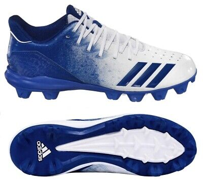 Adidas Icon 4 Md Youth Baseball Cleats Shoes White Blue G26696 New Size 3