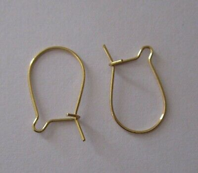 200 pcs Gold Tone 20 mm Kidney Earring Wires Hooks Findings for Jewellery Making