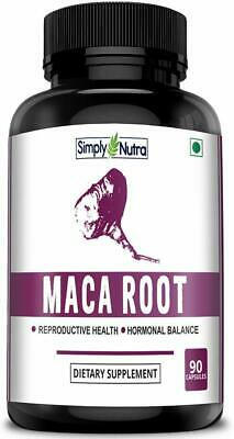 Simply Nutra Maca Root Extract Capsules for Reproductive Health - 800mg - 90 Veg