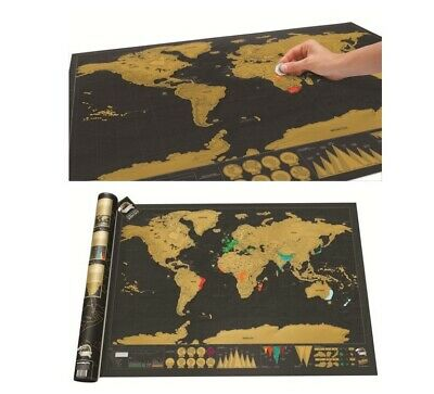 Scratch Off Map Giant Map Of The World Deluxe World Gift Journal Poster