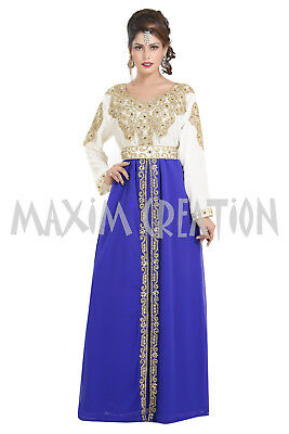 Ancient Arabic Dress Persian Abaya Hand Embroidery Customized Wedding Gown 6377