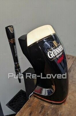 Retro Guinness Lightbox Font Countermount Clamp Tap And Handle