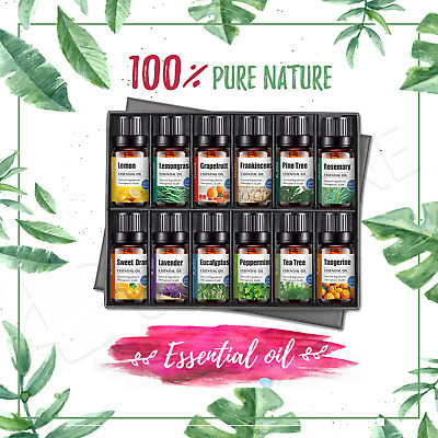 【100% Natural】6 12 16 20 Pack Essential Oil Set Gift Pure Aroma Oil Aromatherapy