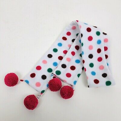 Baby Gap Scarf Kid Youth Girl White With Multicolor Polka Dots One Size Fits ALL