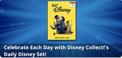 Topps Disney Collect Card Trader Daily Disney Complete January 2020 Set 31 Cards