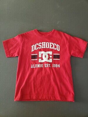 DC Shoes Co. Boys Short Sleeve Graphic T-shirt Size M Red