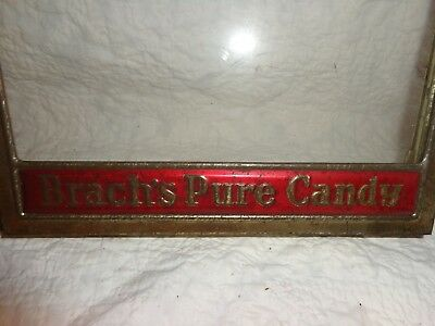 Antique Brach's Pure Candy General Store Advertising Box Top Glass Cover