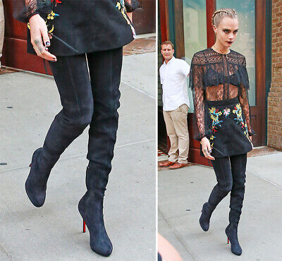 thigh high boots louboutin