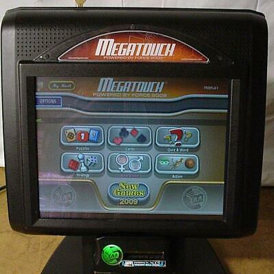 "Megatouch 2009 Force EVO Bartop Games 15"" Display FREE Tech Support WARRANTY!"