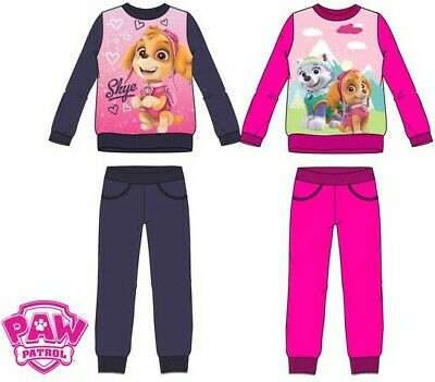 Paw Patrol Girls Skye & Everest Pink / Blue Tracksuit Joggers Set 3 - 6 years