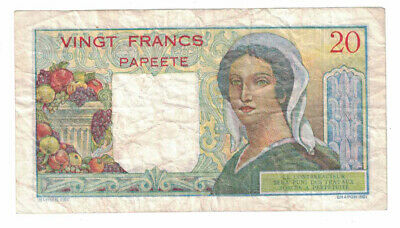 New Caledonia - ND(1963) 20 Francs Banknote (P-50c)