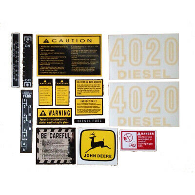 JD417S Hood & Safety Decal Set For John Deere Tractor 420Diesel