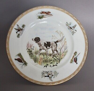 Rare Wedgwood Marguerite Kirmse English Setter Sporting Dog Hand Painted Plate