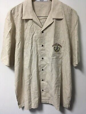 Men's Disney Parks Mickey Mouse In Paradise All Play No Work Island Shirt Size L
