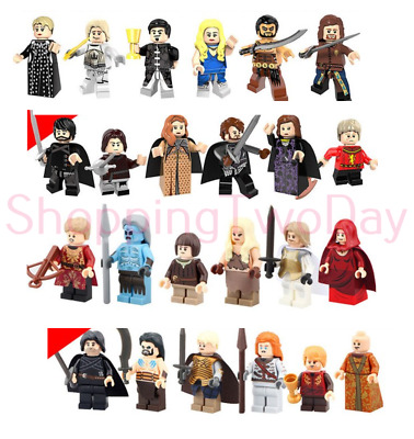 Game Of Thrones Jon Snow White Walker Wights Lego Moc Minifigure Toys Gift