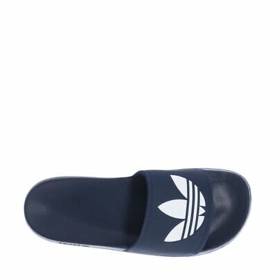New adidas TREFOIL ADILETTE Mens Slides Sandals FU8298 Flip Flops Core Black s1
