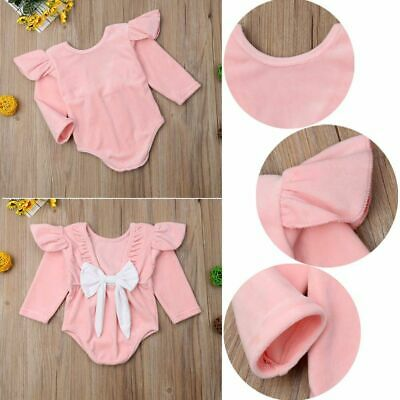 Bow-knot Baby Girl Rompers Autumn Princess Newborn Long Sleeve Jumpsuit
