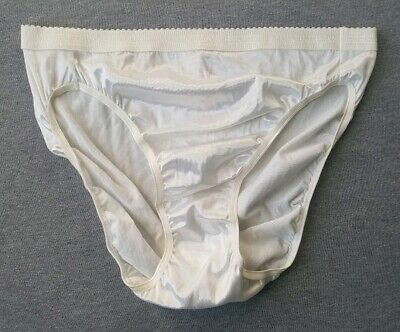 Victoria's Secret Vintage Signature Second Skin Satin Hi-Cut Panties NEW NWT XL