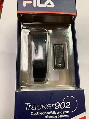 NEW IN BOX FILA TRACKER 902 Activity Sleep Wristband Black