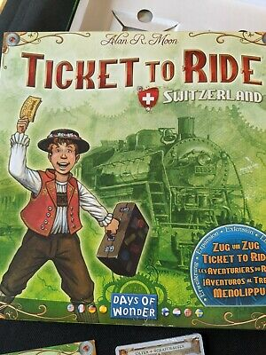 RARE New Open Box Sealed Cards Ticket to Ride: Switzerland: 2007 Edition