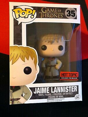 Funko Pop Jaime Lannister 35 Game of Thrones Hot Topic Pre-Release
