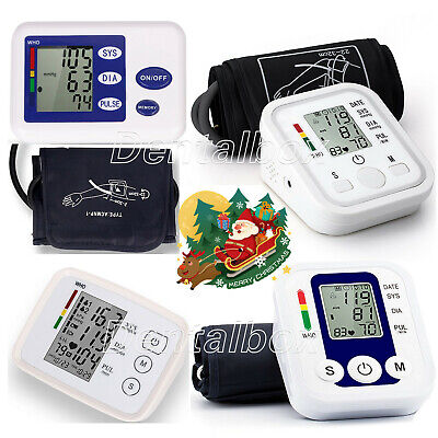 Automatic Upper Arm LCD Digital Blood Pressure Monitor Pulse Rate with Cuff.