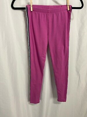 Gap Kids Girls Pink Leggings in Stretch Jersey with side stripes - Size L (10 )
