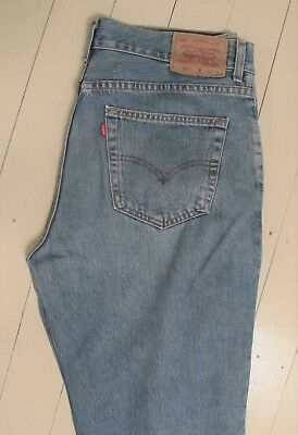 JEANS Levis 504 Blue Denim W38 Legs have been shortened Red label Classic Levi's