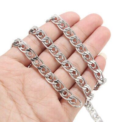 2Meters 7mm Width Stainless Steel Mens chain Findings for DIY jewelry making