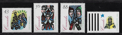 Canada Stamps — Set of 4 — 1994, Christmas Carolling #1533-1536 — MNH