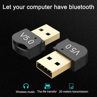 USB 5.0 Bluetooth Adapter Wireless Dongle High Speed Windows For PC Win10/8 K4G0